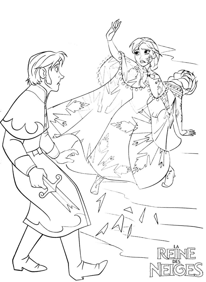 Coloriage a imprimer anna sauve elsa gratuit et colorier - Imprimer la reine des neiges ...
