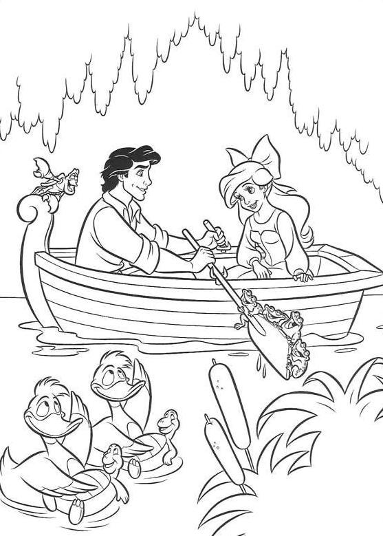Coloriage a imprimer arielle la petite sirene romance sur - Arielle coloriage a imprimer ...