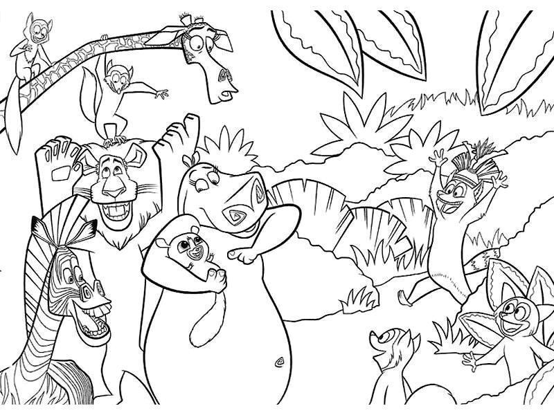 Coloriage a imprimer madagascar fete au zoo gratuit et - Coloriage madagascar ...
