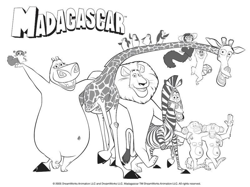 Coloriage a imprimer madagascar tout le zoo gratuit et - Coloriage madagascar ...
