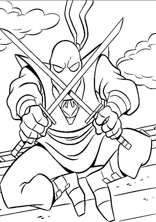 Coloriage a imprimer shredder l ennemi des tortues ninjas - Jeux de tortues ninja gratuit ...