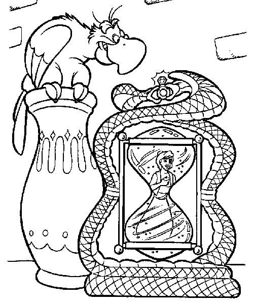 Coloriage a imprimer aladdin dans le sablier gratuit et - Coloriage d aladin ...