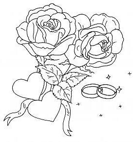 Coloriage a imprimer alliances de mariage gratuit et colorier