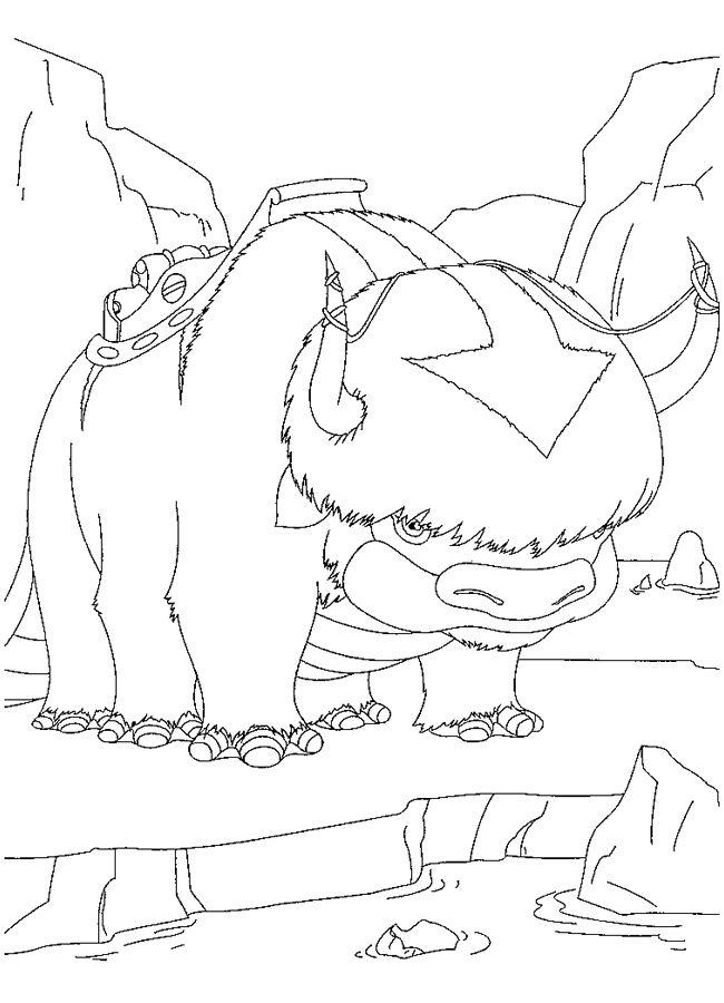 Coloriage a imprimer appa le bison volant de aang l avatar - Photo de bison a imprimer ...