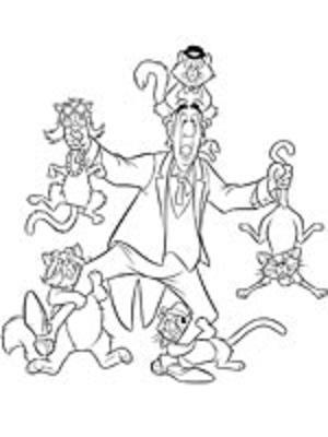 Coloriage a imprimer aristochats edgar et les chats - Dessin aristochats ...