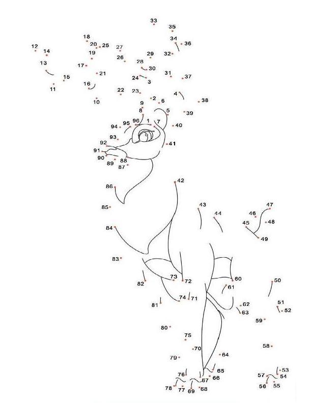 Coloriage point a point a imprimer bambi le cerf gratuit et colorier - Dessin point a point ...