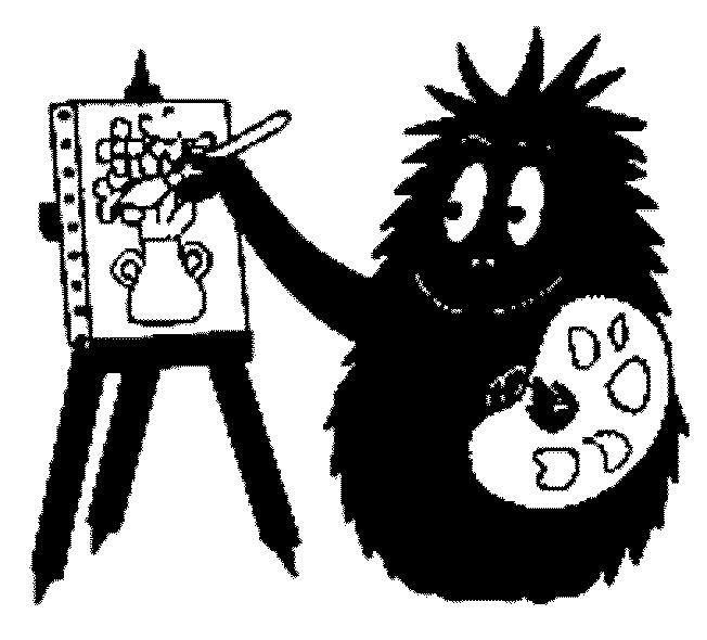Coloriage a imprimer barbapapa barbouille peint un tableau - Barbapapa a imprimer ...