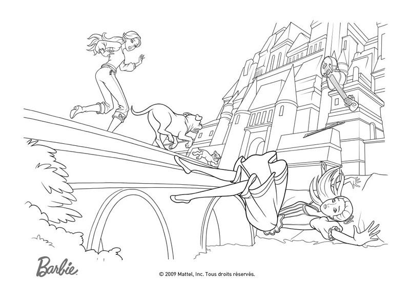 Ausmalbilder Ostwind: Coloriage A Imprimer Barbie Et Les 3 Mousquetaires La