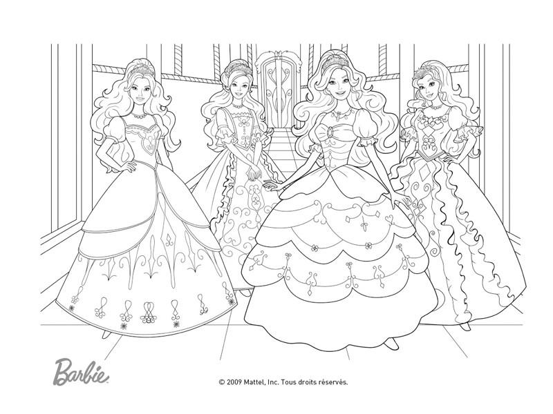 Coloriage a imprimer barbie et les 3 mousquetaires gratuit - Dessin imprimer barbie ...