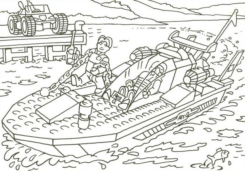 Coloriage a imprimer bateau lego gratuit et colorier - Coloriage petit bateau imprimer ...