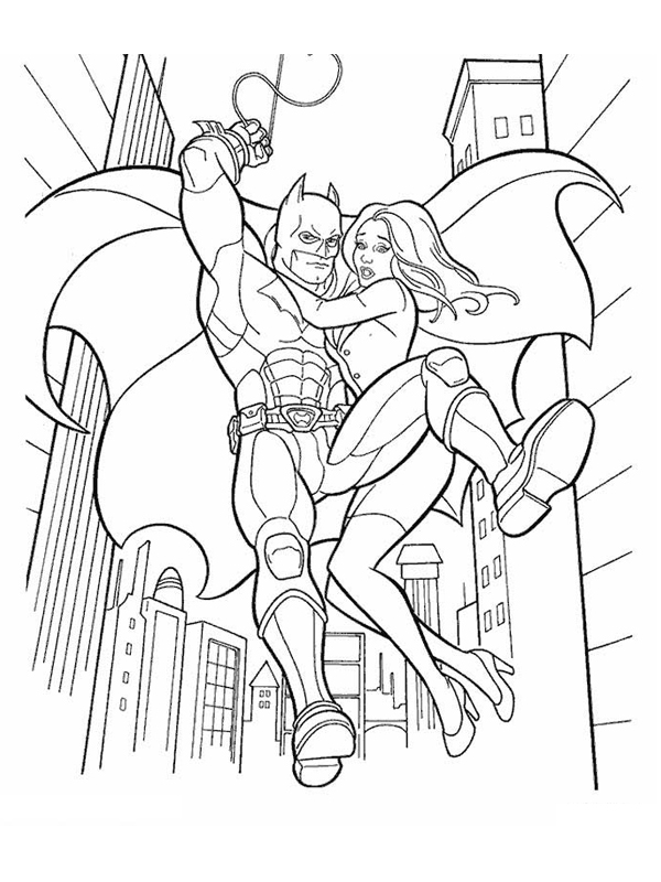 Coloriage a imprimer batman au secours de la demoiselle - Coloriage a imprimer batman gratuit ...