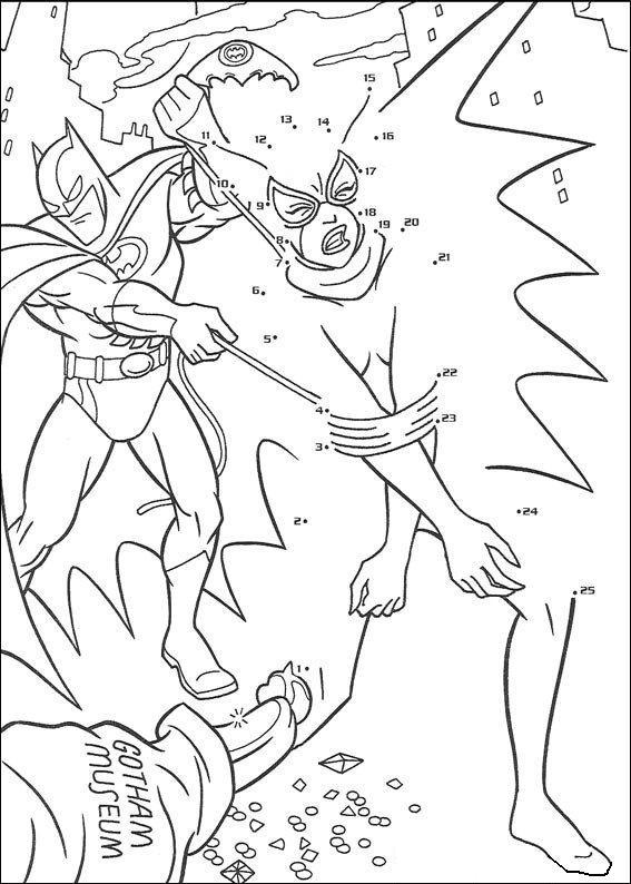Coloriage point a point a imprimer batman combat gratuit - Coloriage a imprimer batman gratuit ...