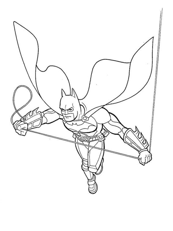 Coloriage a imprimer batman et sa corde gratuit et colorier - Batman a imprimer ...