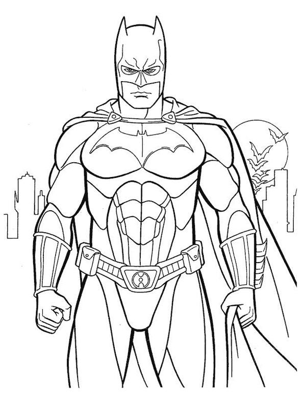 Coloriage a imprimer batman la chauve souris gratuit et - Batman a imprimer ...