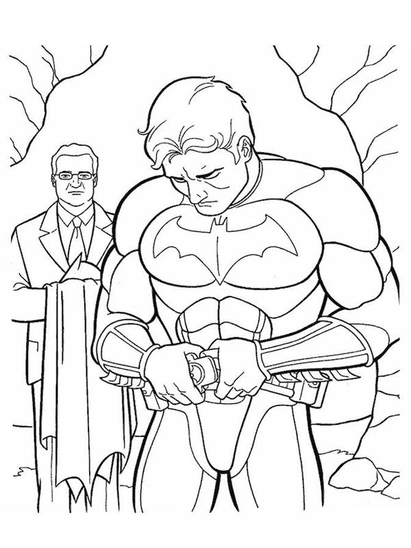 Coloriage a imprimer batman met son costume gratuit et - Batman a imprimer ...