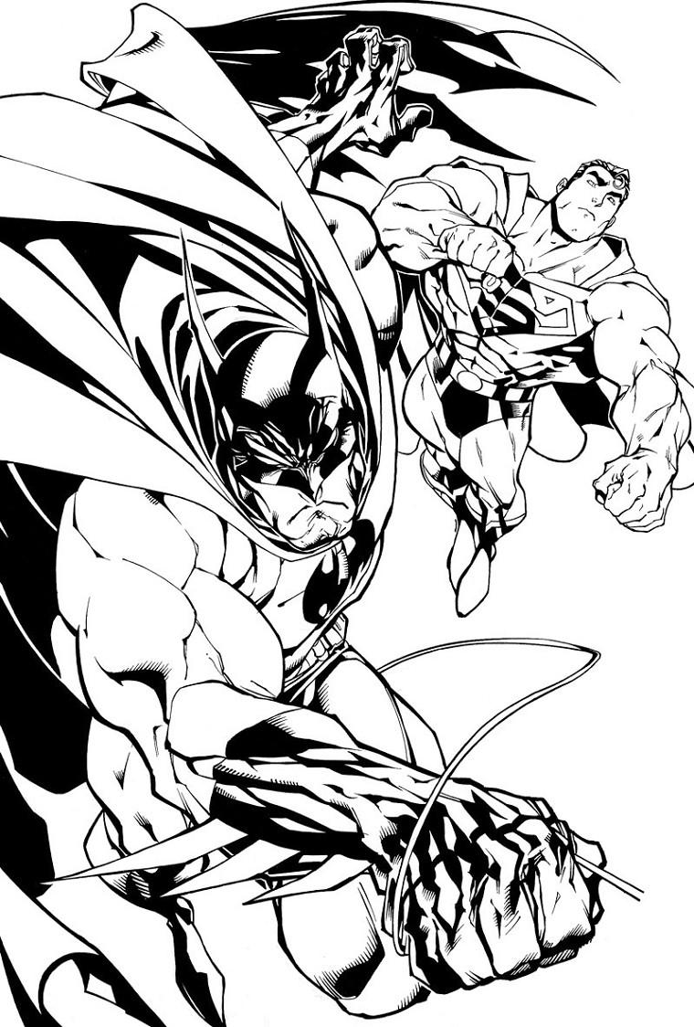 Coloriage a imprimer batman vole avec superman gratuit et - Coloriage a imprimer batman gratuit ...