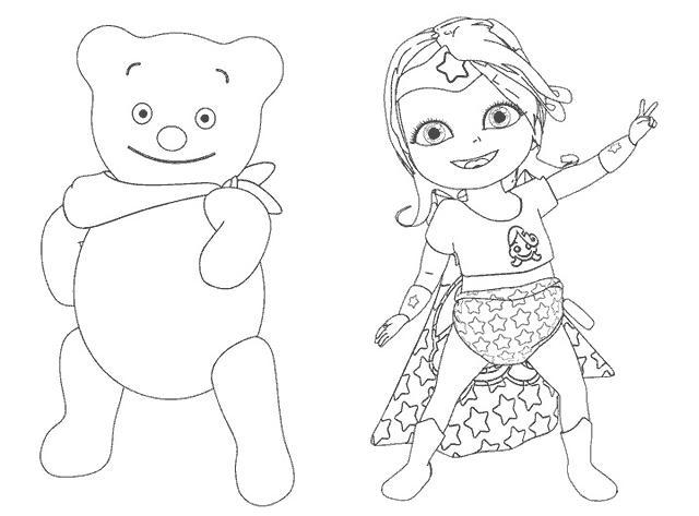 Coloriage a imprimer bebe lilly et son ami nounours gratuit et colorier - Image de nounours a imprimer ...