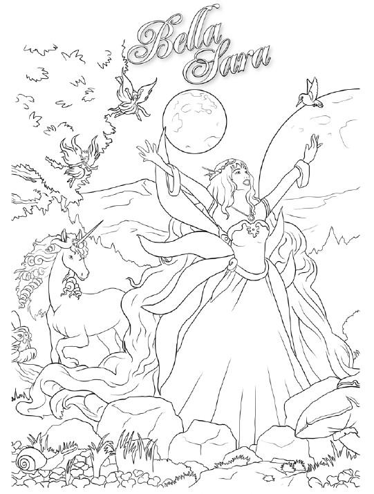 Coloriage a imprimer bella sara la magie gratuit et colorier - Dessin bella sara ...