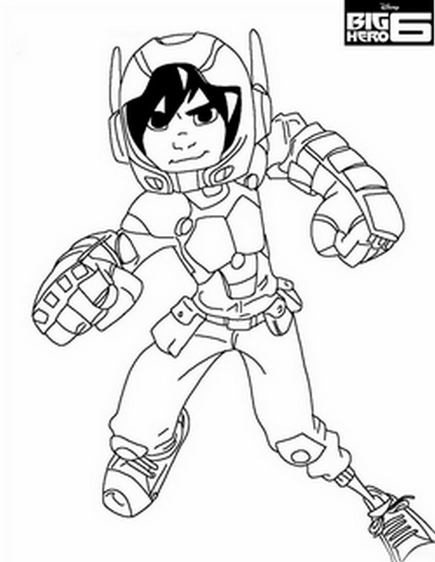 Coloriage a imprimer big hero 6 hiro nouveau heros gratuit et colorier - Coloriage heros ...