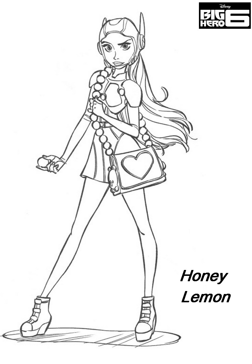 Coloriage a imprimer big hero 6 honey lemon gratuit et - Dessin de heros ...