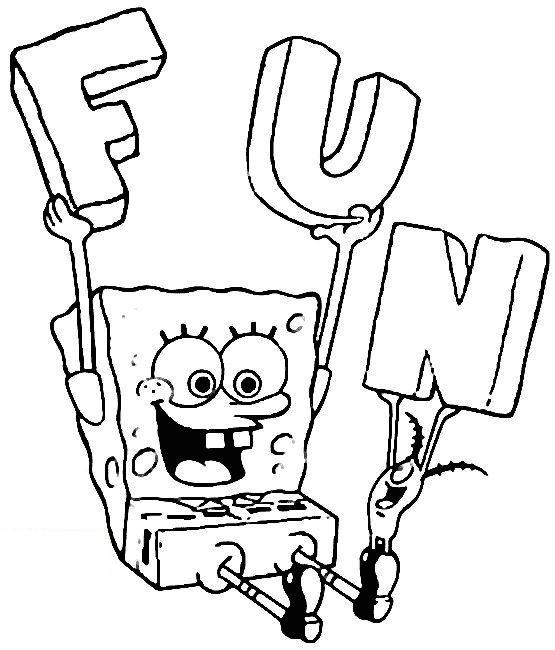 Coloriage a imprimer bob l eponge fun gratuit et colorier - Bob l escargot gratuit ...