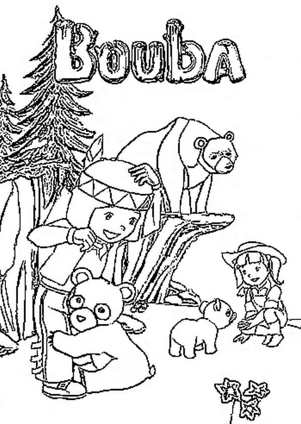 Coloriage a imprimer bouba le petit ourson avec moy et joy gratuit et colorier - Dessin ourson a imprimer ...