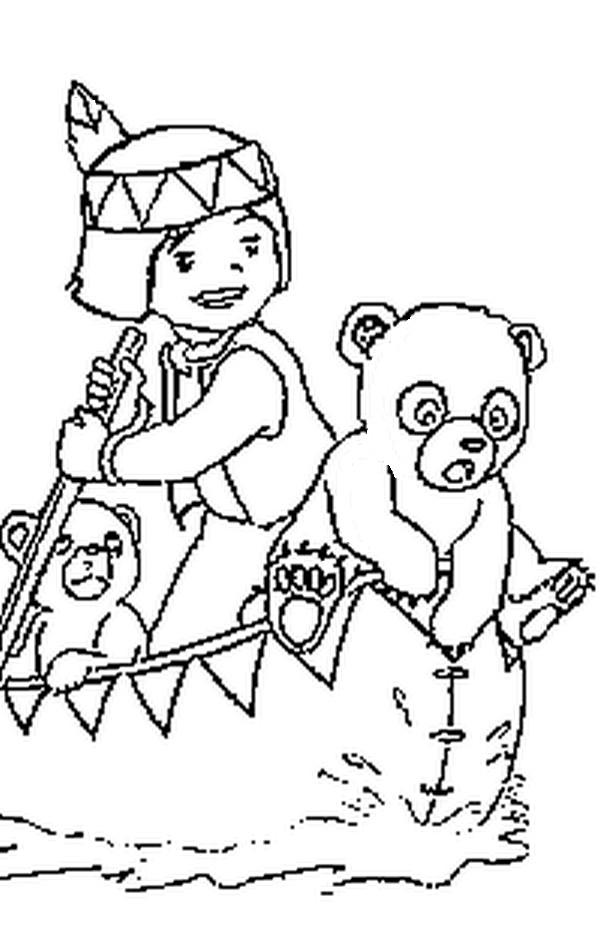 Coloriage a imprimer bouba le petit ourson dans la barque de moy gratuit et colorier - Dessin ourson a imprimer ...
