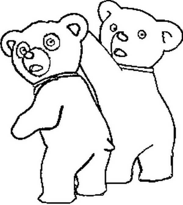 Coloriage a imprimer bouba le petit ourson et frisquette gratuit et colorier - Dessin ourson a imprimer ...