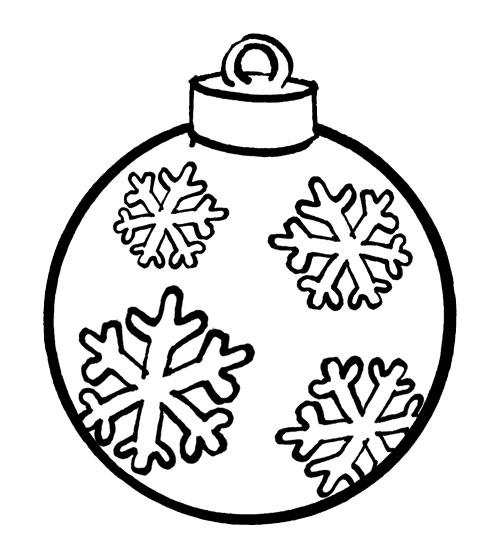 Coloriage a imprimer boule de noel avec flocon de neige - Boules de noel a colorier et imprimer ...
