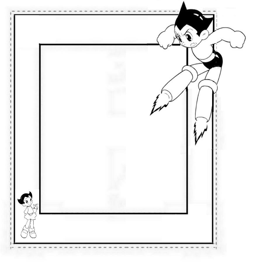 cadre de tableau astro boy d 233 coupage a imprimer