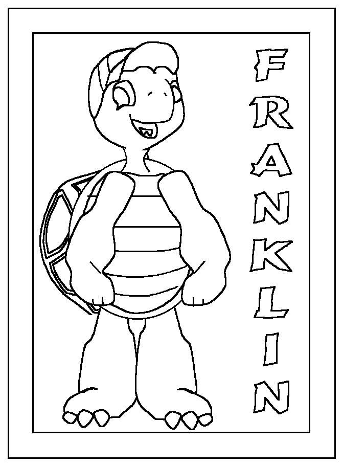 Coloriage a imprimer cadre franklin gratuit et colorier - Dessin franklin ...