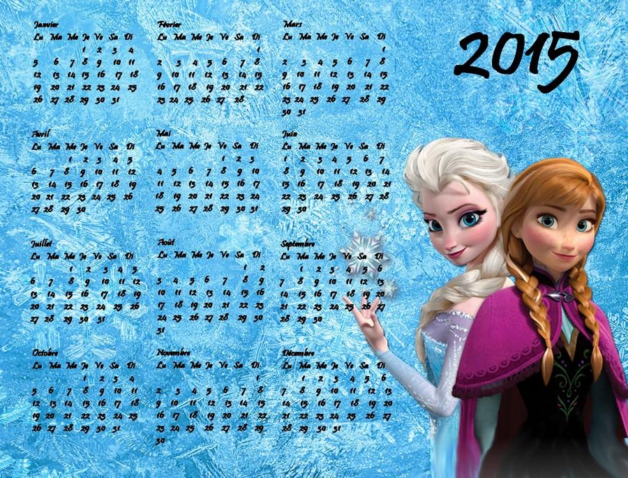 Calendrier reine des neiges bleu a imprimer - Jeux de reine des neige gratuit ...
