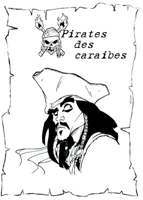 coloriage a imprimer pirate des caraibes