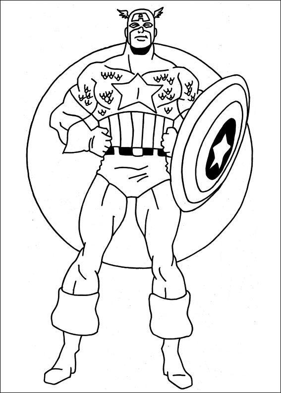 Coloriage a imprimer captain america poings sur les - Dessin captain america ...