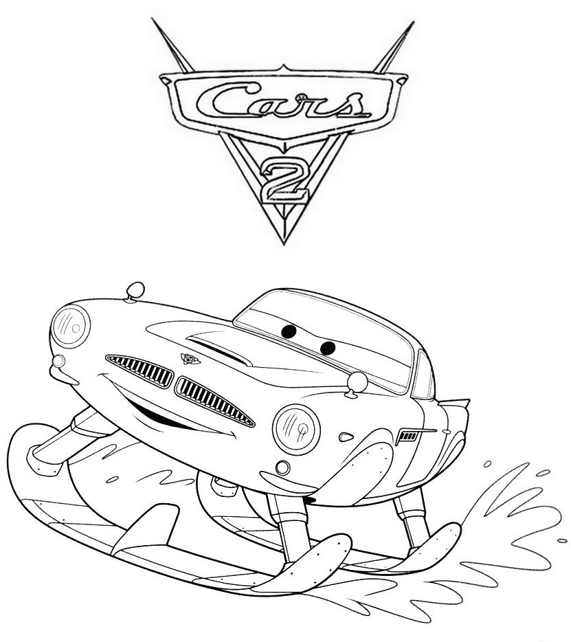 Coloriage a imprimer cars 2 finn mc missile en - Cars 2 coloriage ...