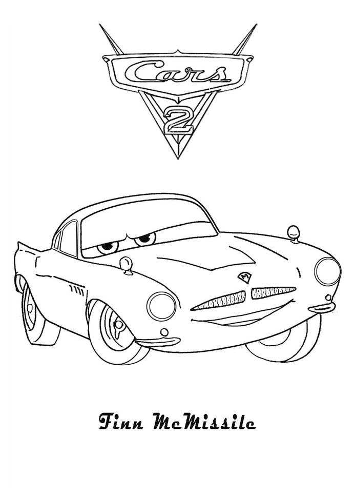 Coloriage a imprimer cars 2 finn mc missile gratuit et colorier - Dessins a colorier cars ...
