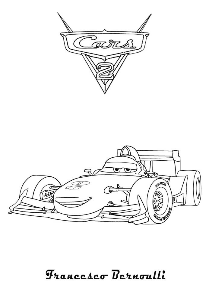 Coloriage Cars Francesco A Imprimer.Coloriage A Imprimer Cars 2 Francesco Bernoulli Gratuit Et Colorier