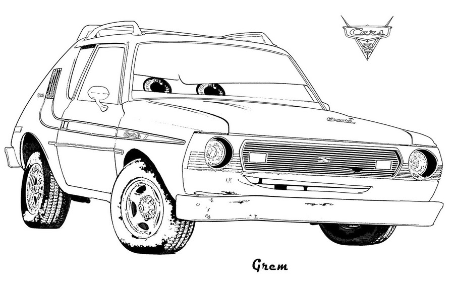 coloriage cars 2 grem