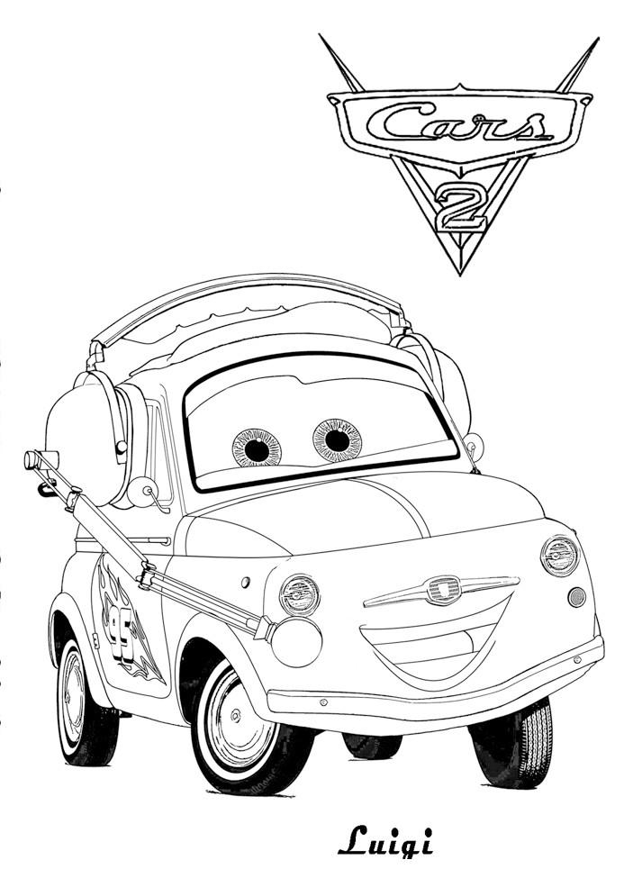 Coloriage a imprimer cars 2 luigi gratuit et colorier - Cars 2 coloriage ...