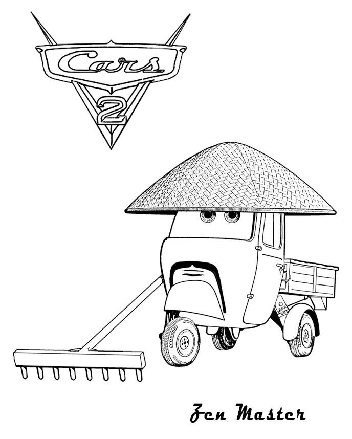 Coloriage a imprimer cars 2 zen master gratuit et colorier - Images a colorier et imprimer cars ...