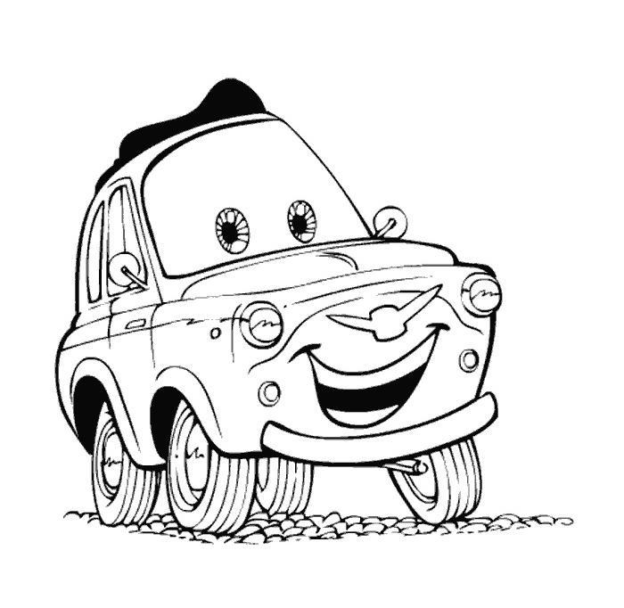 Coloriage cars flash mcqueen n 2 643x730 de - Dessin auto tamponneuse ...