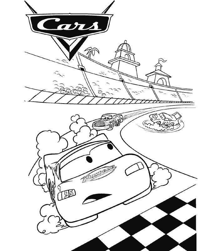 Coloriage magique cars - Coloriage cars ...