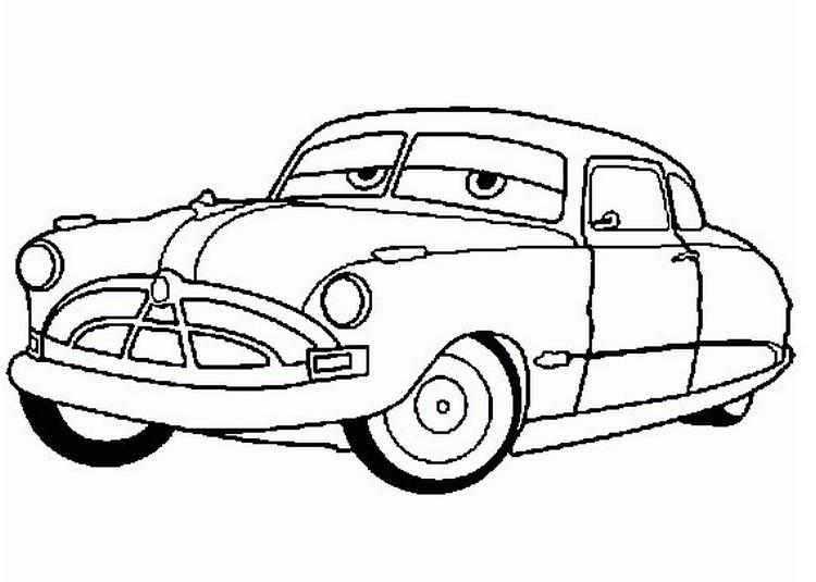 Coloriage A Imprimer Cars Doc Hudson Gratuit Et Colorier