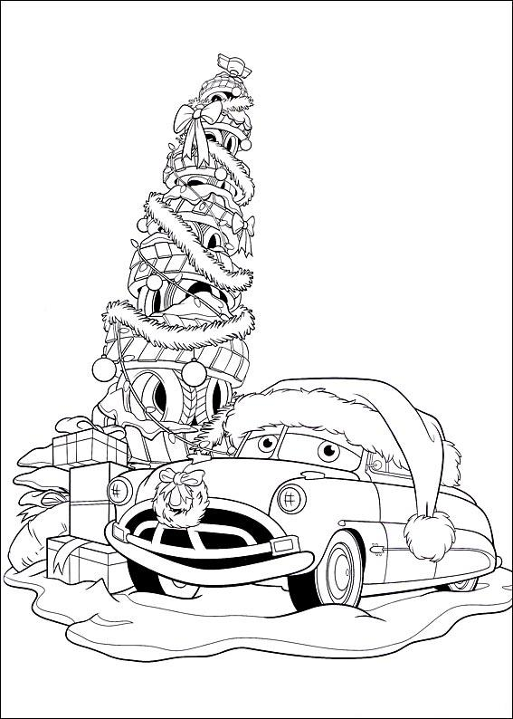 Free coloring pages of christmas mcqueen - Le sapin de noel ...