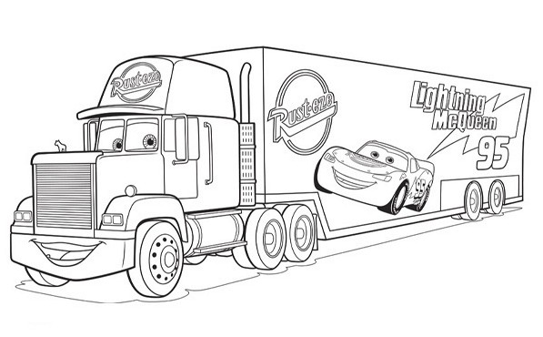 cars coloring pages mack - photo#10