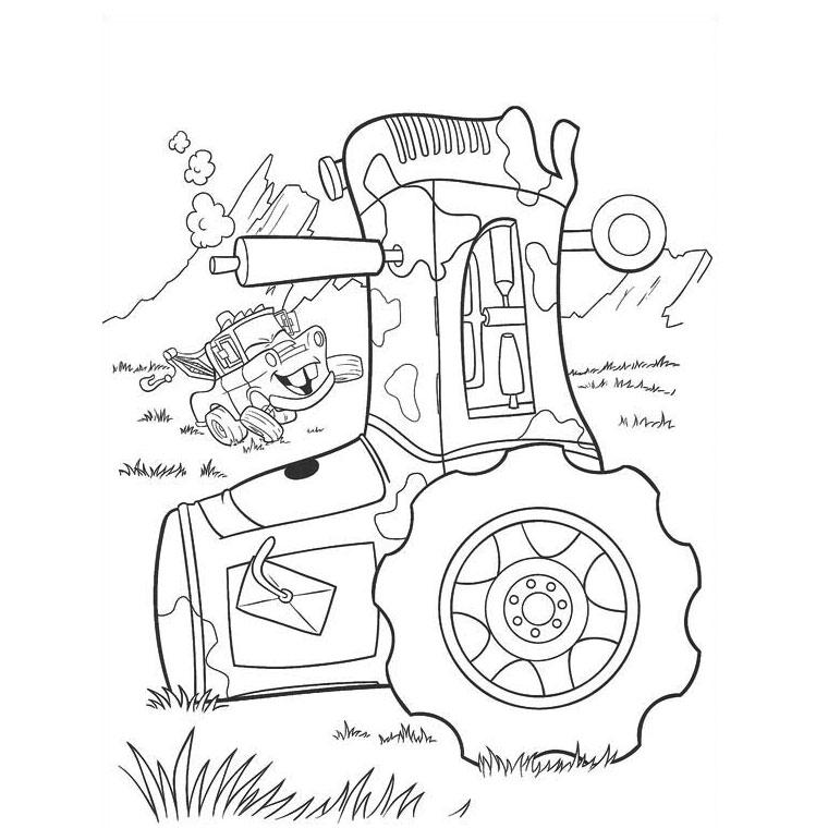 Coloriage a imprimer cars mater et le tracteur gratuit et colorier - Cars et les tracteurs ...