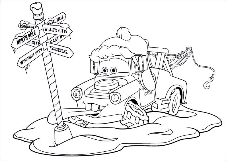 Coloriage a imprimer cars sous la neige gratuit et colorier - Dessins a colorier cars ...