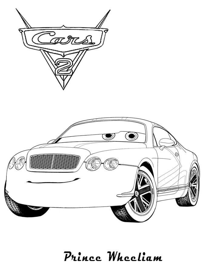 Coloriage Cars 2 A Imprimer.Coloriage A Imprimer Cars2 Prince Wheeliam Gratuit Et Colorier