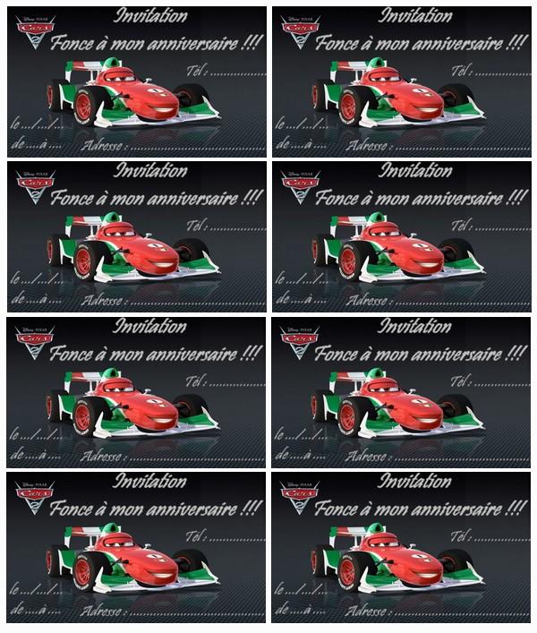 Carte Anniversaire Cars Francesco A Imprimer