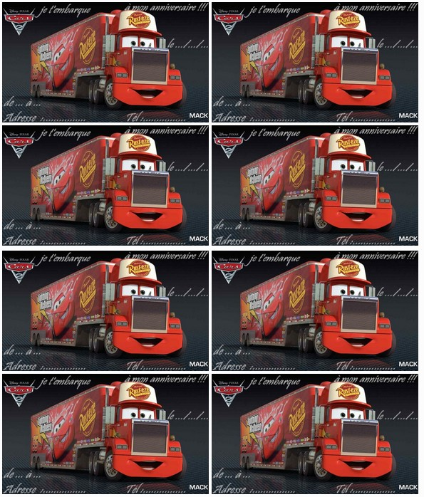 Carte Anniversaire Cars Mack A Imprimer